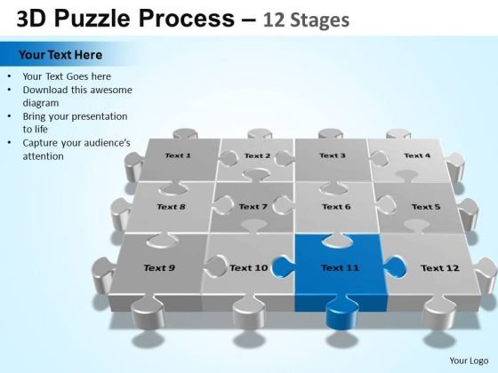 PowerPoint Backgrounds Download Puzzle Process Ppt Theme