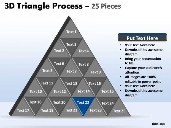 PowerPoint Backgrounds Download Triangle Process Ppt Backgrounds