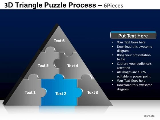 PowerPoint Backgrounds Download Triangle Puzzle Ppt Slide Designs