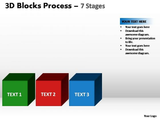 PowerPoint Backgrounds Editable Blocks Process Ppt Theme
