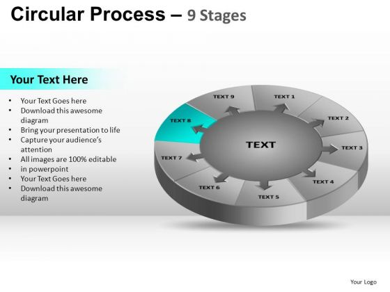 PowerPoint Backgrounds Editable Circular Process Ppt Theme