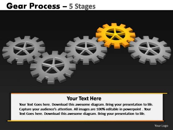 PowerPoint Backgrounds Editable Gears Process Ppt Template
