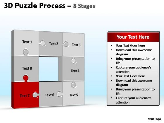 PowerPoint Backgrounds Editable Puzzle Process Ppt Slides