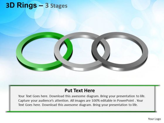 PowerPoint Backgrounds Editable Rings Ppt Template