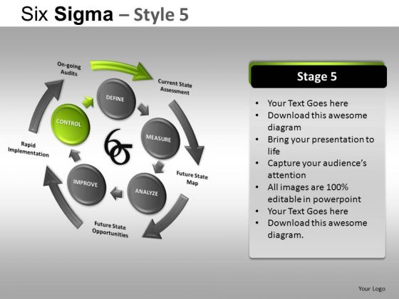 PowerPoint Backgrounds Executive Leadership Six Sigma Ppt Layout