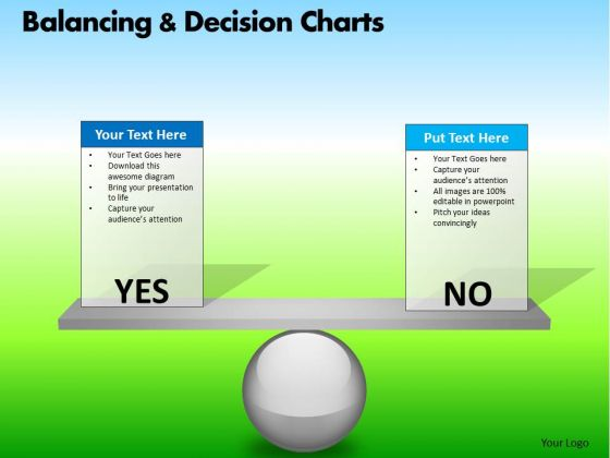 PowerPoint Backgrounds Executive Success Balancing Decision Charts Ppt Slide