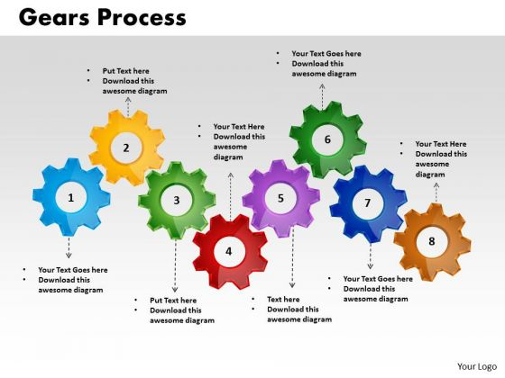 PowerPoint Backgrounds Gears Process Growth Ppt Design Slides