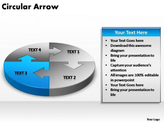 PowerPoint Backgrounds Global Circular Arrow Ppt Slides
