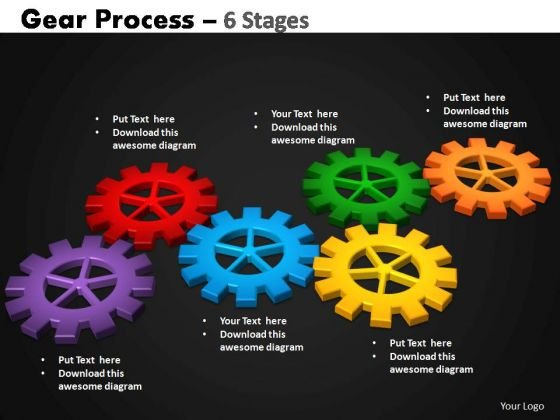 PowerPoint Backgrounds Graphic Gears Process Ppt Slide