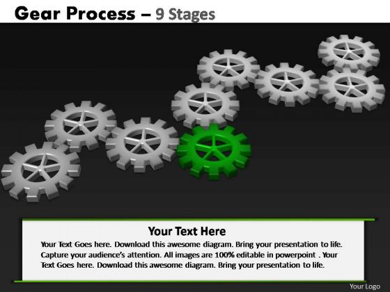 PowerPoint Backgrounds Graphic Gears Process Ppt Slides