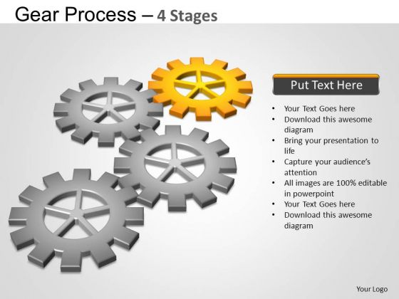 PowerPoint Backgrounds Graphic Gears Process Ppt Theme