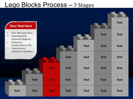 PowerPoint Backgrounds Graphic Lego Blocks Ppt Theme