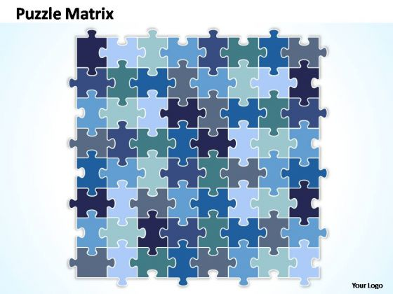 PowerPoint Backgrounds Graphic Rectangular Jigsaw Puzzle Ppt Template