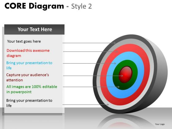 PowerPoint Backgrounds Growth Core Diagram Ppt Slide