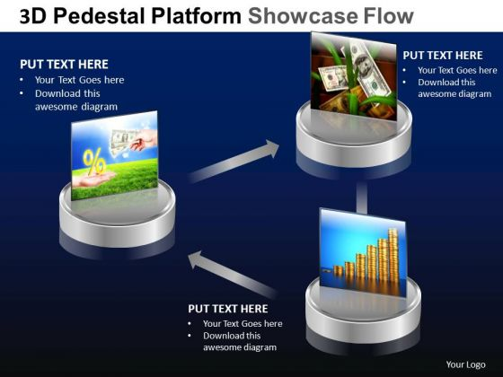 PowerPoint Backgrounds Growth Pedestal Platform Showcase Ppt Design