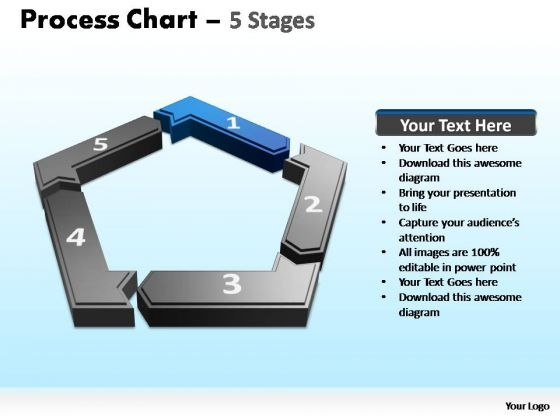 PowerPoint Backgrounds Growth Process Chart Ppt Design Slides