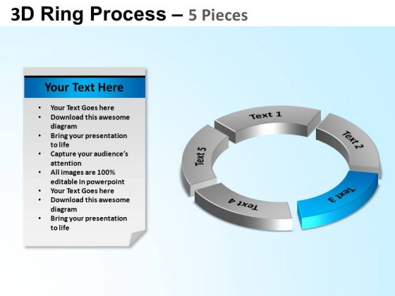 PowerPoint Backgrounds Growth Ring Process Ppt Template