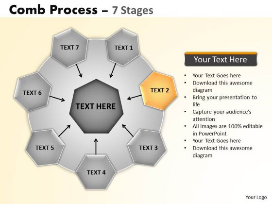 PowerPoint Backgrounds Growth Wheel And Spoke Process Ppt Template