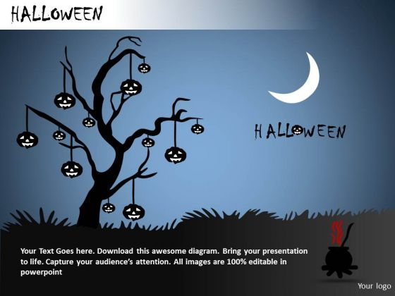 PowerPoint Backgrounds Halloween Lanterns Ppt Slides