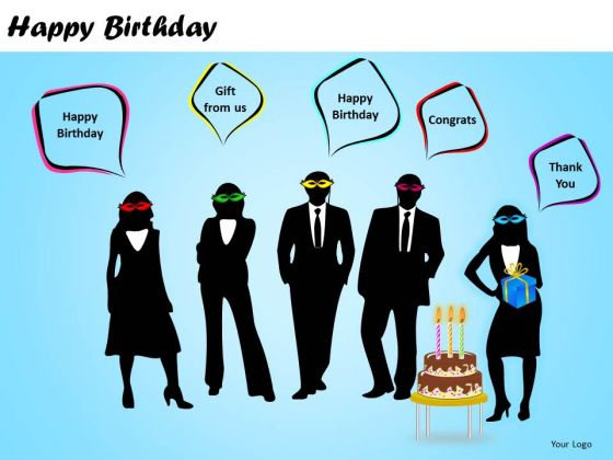 PowerPoint Backgrounds Happy Birthday Guests Callouts Ppt Slides