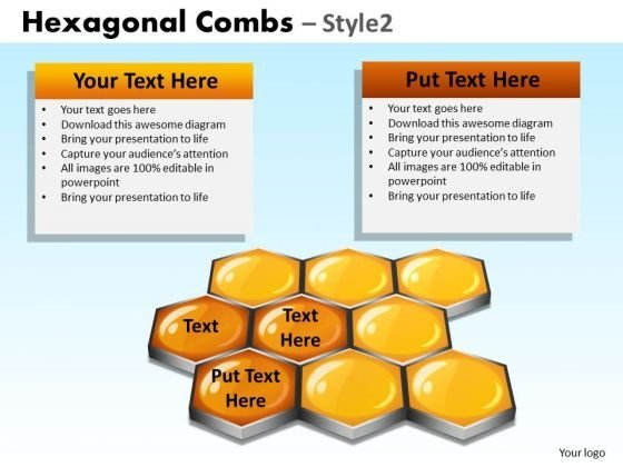 PowerPoint Backgrounds Hexagonal Combs Diagram Ppt Presentation