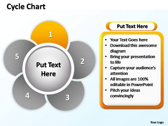 PowerPoint Backgrounds Image Cycle Chart Ppt Slide