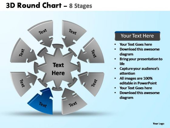 PowerPoint Backgrounds Image Pie Chart With Arrows Ppt Template
