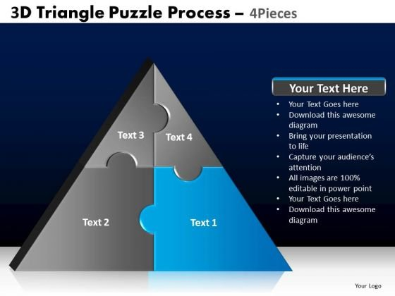 PowerPoint Backgrounds Image Triangle Puzzle Ppt Layouts