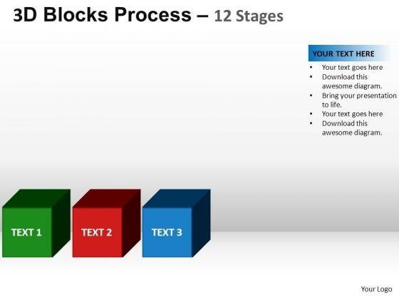 PowerPoint Backgrounds Leadership Blocks Process Ppt Slide