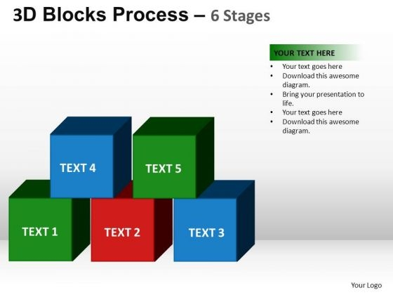 PowerPoint Backgrounds Leadership Blocks Process Ppt Template