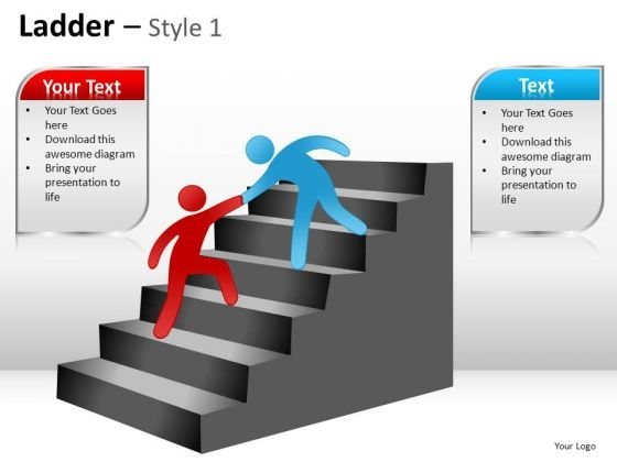 PowerPoint Backgrounds Leadership Ladder Ppt Slides