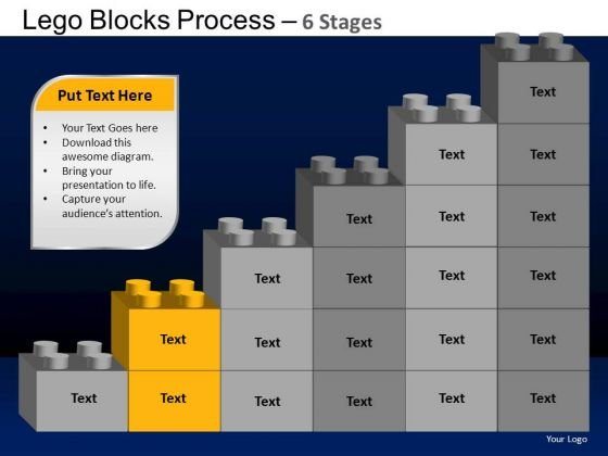 PowerPoint Backgrounds Leadership Lego Blocks Ppt Layout