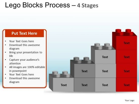 PowerPoint Backgrounds Leadership Lego Blocks Ppt Template