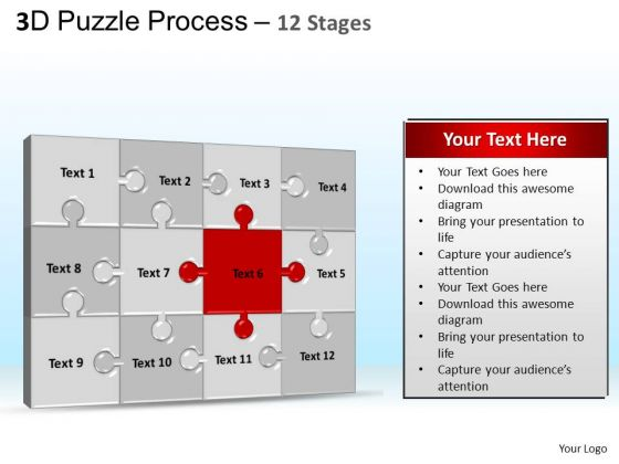 PowerPoint Backgrounds Leadership Puzzle Process Ppt Design