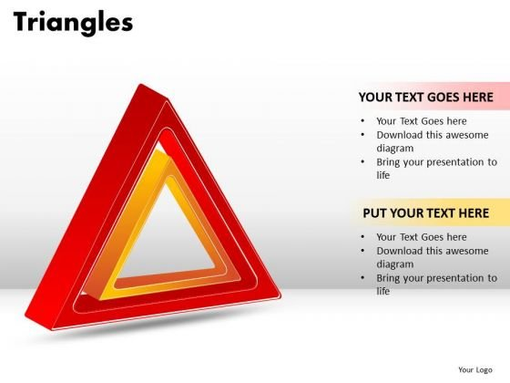 PowerPoint Backgrounds Leadership Triangles Ppt Slides