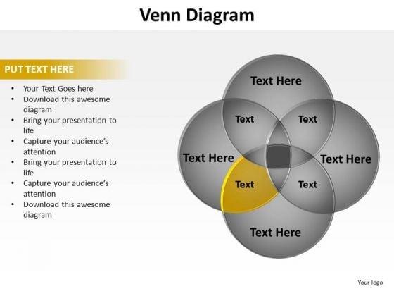 PowerPoint Backgrounds Leadership Venn Diagram Ppt Slide