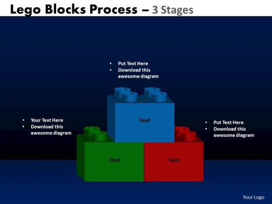 PowerPoint Backgrounds Marketing Lego Blocks Ppt Design