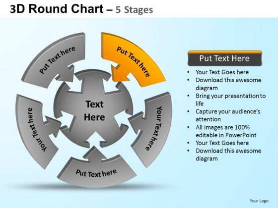 PowerPoint Backgrounds Marketing Round Process Flow Chart Ppt Slides