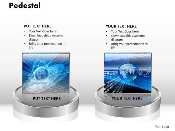PowerPoint Backgrounds Pedestal Global Ppt Slide Designs