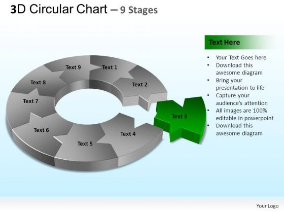 PowerPoint Backgrounds Process Circular Chart Ppt Design Slides