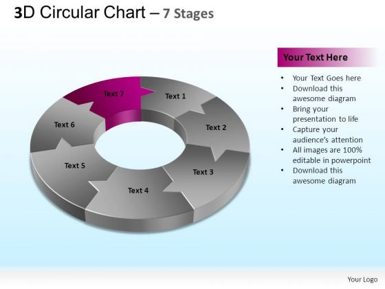 PowerPoint Backgrounds Process Circular Chart Ppt Template