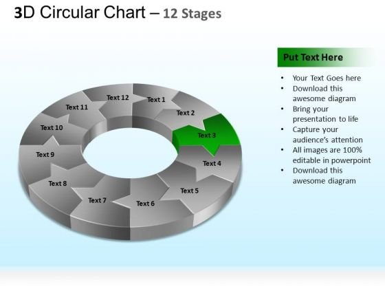PowerPoint Backgrounds Process Circular Ppt Themes