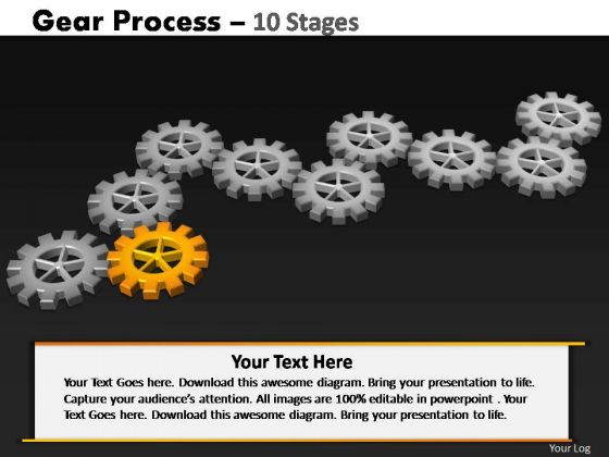 PowerPoint Backgrounds Process Gears Process Ppt Theme