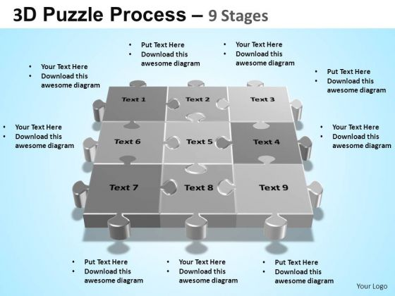 PowerPoint Backgrounds Process Puzzle Process Ppt Backgrounds