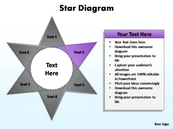 PowerPoint Backgrounds Process Star Diagram Ppt Designs