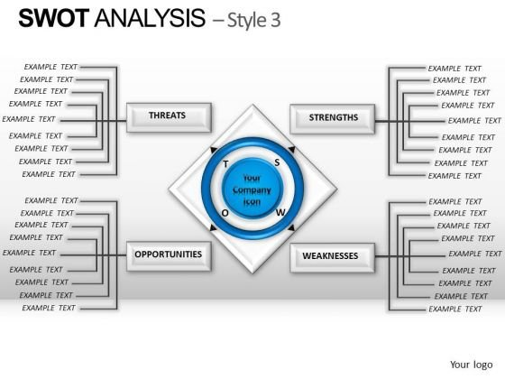PowerPoint Backgrounds Process Swot Analysis Ppt Slides