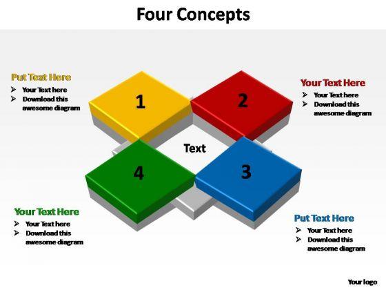 PowerPoint Backgrounds Sales Four Concepts Ppt Slide