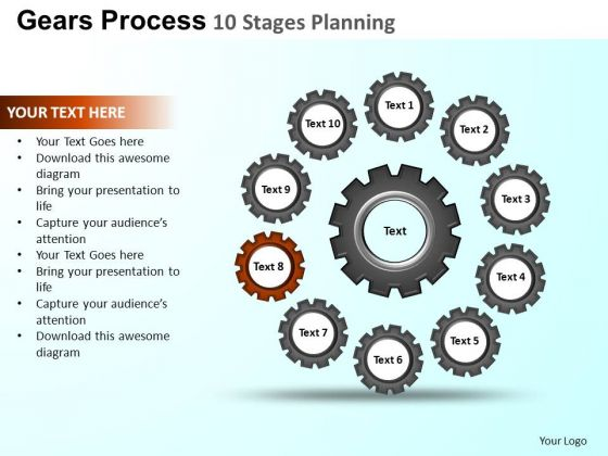 PowerPoint Backgrounds Sales Gears Process Ppt Layouts