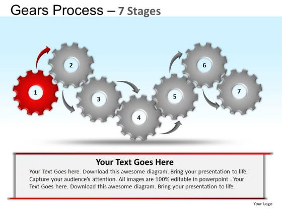 PowerPoint Backgrounds Sales Gears Process Ppt Slide