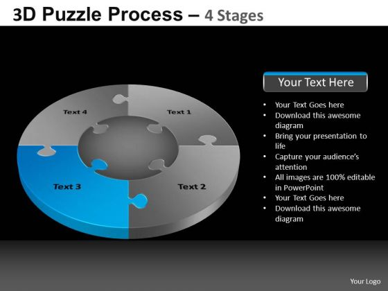 PowerPoint Backgrounds Sales Pie Chart Puzzle Process Ppt Design